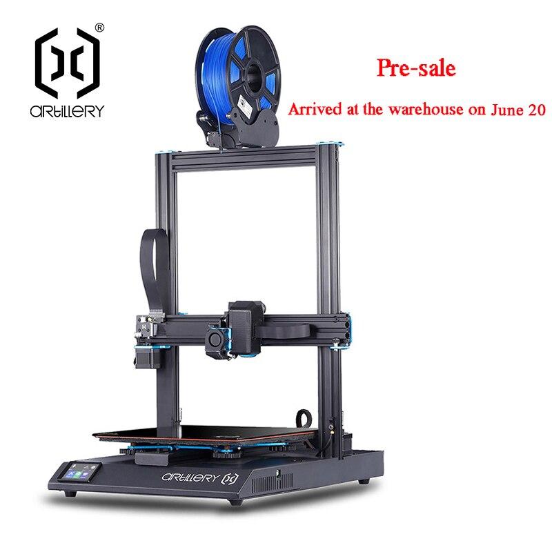 Artiglieria 3D Stampante Sidewinder X1 SW-X1 di Alta Precisione di Grandi Dimensioni Più Il Formato 300*300*400 millimetri 3d Printer Dual asse Z TFT Touch Screen