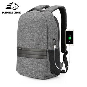 Image 1 - Рюкзак мужской для ноутбука 15 дюймов с USB зарядкой и защитой от кражи