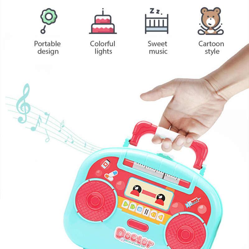 الرضع مشرقة الاطفال الطبيب عدة لعبة الطبيب مجموعة اللعب نموذج الاطفال لغز لعبة فتاة بوي دور اللعب لعبة الطبيب 2-4 سنوات اللعب للفتيات