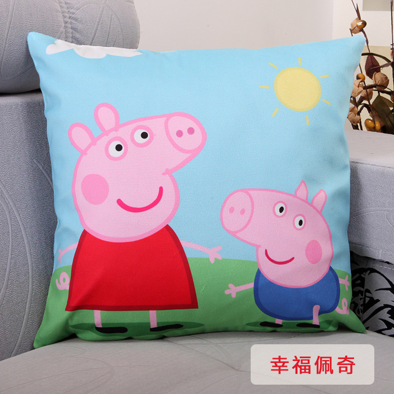 Peppa Pig Geometric Nordic Pillow Cover Tropic Throw  Cover Polyester Cushion Case Sofa Bed Decorative Pillow Home Decor