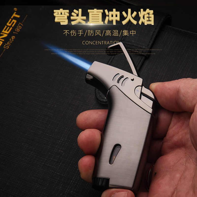 חיצוני מרפק מצית לפיד טורבו סיגר מצית Jet בוטאן גז סיגריות 1300 C תרסיס אקדח Windproof מתכת צינור מצית גברים מתנה