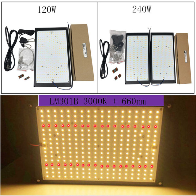 Meanwell Driver 240W Quantum Board Led Grow Light Full Spectrum Samsung LM301B SK 3000K 3500K 4000K 660nm