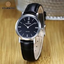 STARKING 6MM Slim Sapphire Women Watch Stainless Steel Japan Quartz Movt Fashion Vintage Ladies Wrist Watches Relogio Feminino цены онлайн