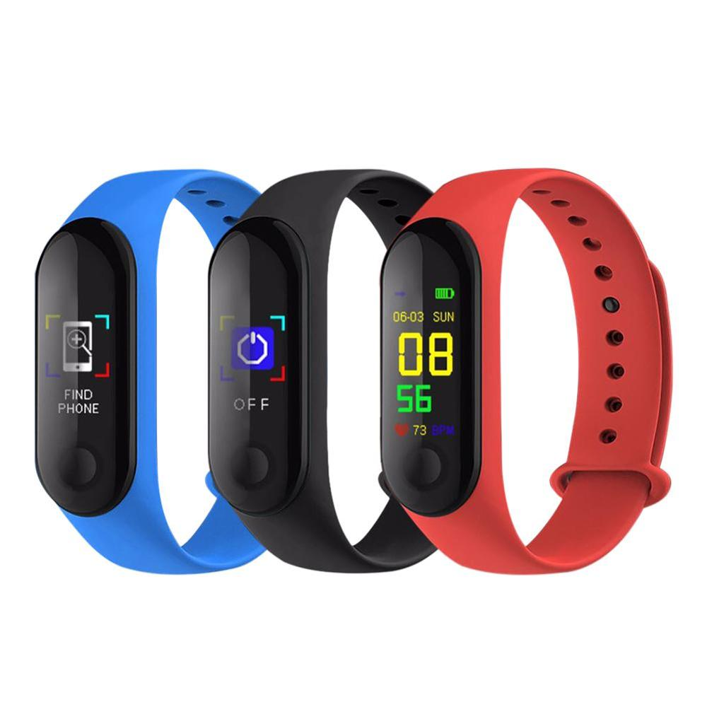 2019 NEW M3 Color Screen Smart Bracelet Sports Pedometer Fitness Watch Running Walking Tracker Heart Rate Pedometer Smart Band