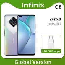 Nova versão global infinix zero 8 8gb 128gb telefone inteligente 6.85 fffhd 90hz tela cheia 64mp quad câmera 4500mah bateria 33w carregador