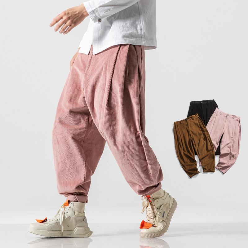 19 Autumn And Winter New Style Corduroy Loose-Fit Baggy Pants Men's Chinese-style Casual Pants