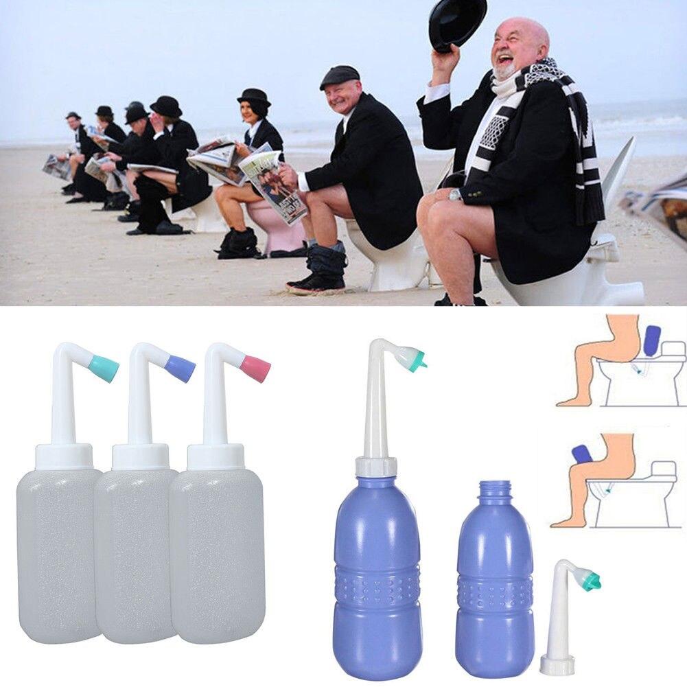 450 мл портативный пустой биде бутылка портативный путешествия туалет рука спрей вода