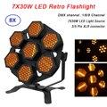 Профессиональный светодиодный светильник в стиле ретро  7X30W  светодиодный светильник для дискотеки  DMX 512  светодиодный сценический светиль...