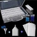 64 ячейки пластиковая коробка для хранения Воронка и наборы наклеек для алмазной живописи аксессуары контейнер для инструментов наборы кор...