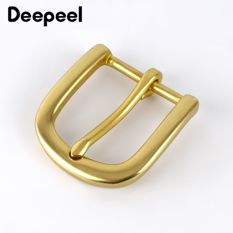 Deepeel 30mm Width Pure Brass Belt Buckle For Men Ladies Belt Pin Buckle Head DIY Leather Craft Jean Clothing Accessories AP181
