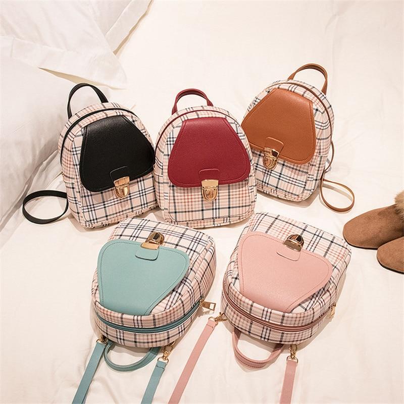 Women Mini Backpack Luxury PU Leather Bag Female Backpacks Cute Graceful Bagpack Small School Bags For Girls