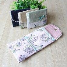 Милый гигиенический блокнот-органайзер с цветочным узором для женщин и девочек, сумочка для хранения салфеток и полотенец, косметичка, чехол, гигиеническая сумка для салфеток
