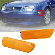 1 par coche frente para lateral de parachoques marcador luces indicadores de señal lámpara sin bombillas para VW Jetta GOLF MK4 1999-2005 estilo de coche