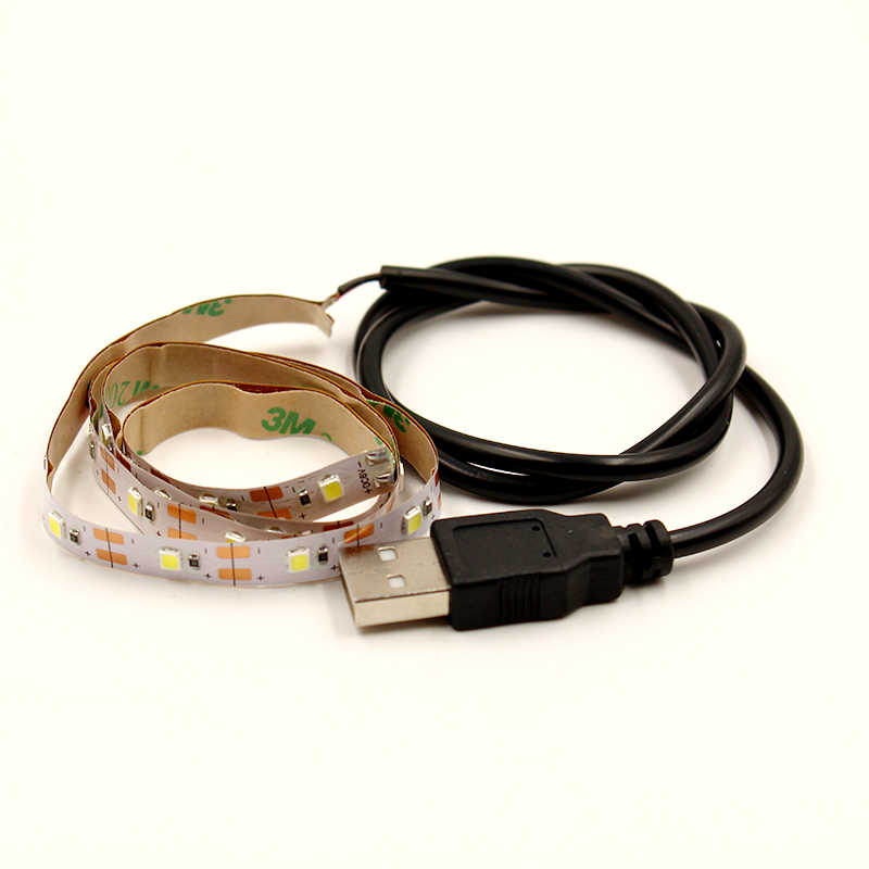 USB LED Strip 5 V RGB Waem Putih Putih 0.5 M 1 M 2 M 3 M 5 M Fleksibel lampu LED Pita Pita Dioda Lampu Latar Televisi TV Lampu