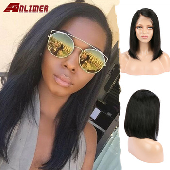 Anlimer 13x4 Lace Front Human Hair Wigs With Baby Hair Brazilian Remy Hair For Women Pre-Plucked Wig