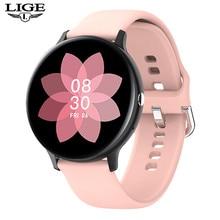 Lige novo p8 tela colorida relógio inteligente feminino masculino toque completo de fitness rastreador pressão arterial relógio inteligente feminino smartwatch para xiaomi