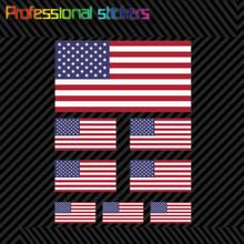 8 pçs sortidas bandeira americana adesivo conjunto eua eua américa bandeiras estrelas listras para o carro, rv, laptops, motocicletas, material de escritório