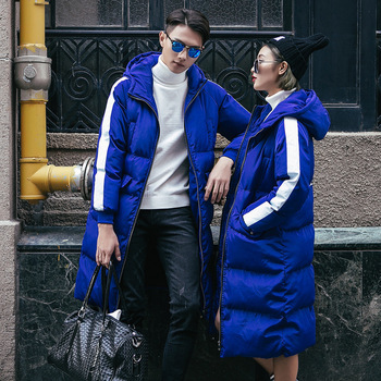 2020 Winter New Mens Womens Warm Long Coats Cotton Hooded Lovers Parkas Padded Coat Overcoat Large Size S-5XL Down Jacket