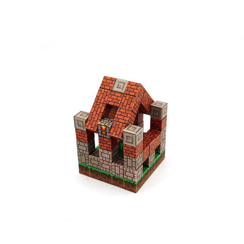 My World MINI Magnetic Building Blocks Craftsman's Cottage ชุดของเล่นสำหรับเด็ก Figures อิฐรุ่น DIY สมองพลาสติก Creator