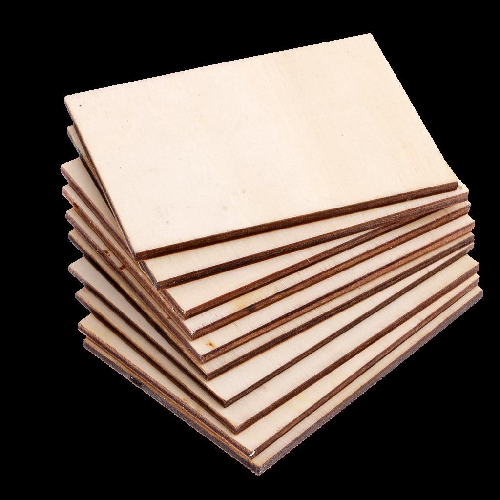 10 pces cartão de visita de madeira em branco cartão de nome de madeira inacabado placa de madeira artesanato