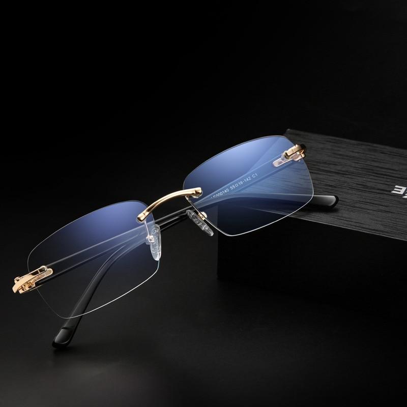 2020 Rimless Reading Glasses Men Women Hyperopia Presbyopia Eyeglasses Eyewear Diopter Glasses +1.5 2.0 2.5 3.0 3.5 4.0 Unisex