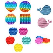 Brinquedo sensorial autismo especial necessidades alívio do estresse crianças adulto antistresse brinquedo popit fidget brinquedos simples ondulação