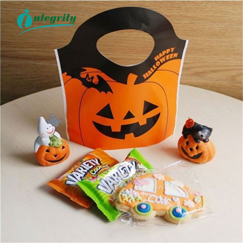 INTEGRITY 15.5*19.5*5 25pcs Halloween Easter Party Decoration Pumpkin Ghost Candy Bag Baking Cookie Home Prop Supplies Kid Gift