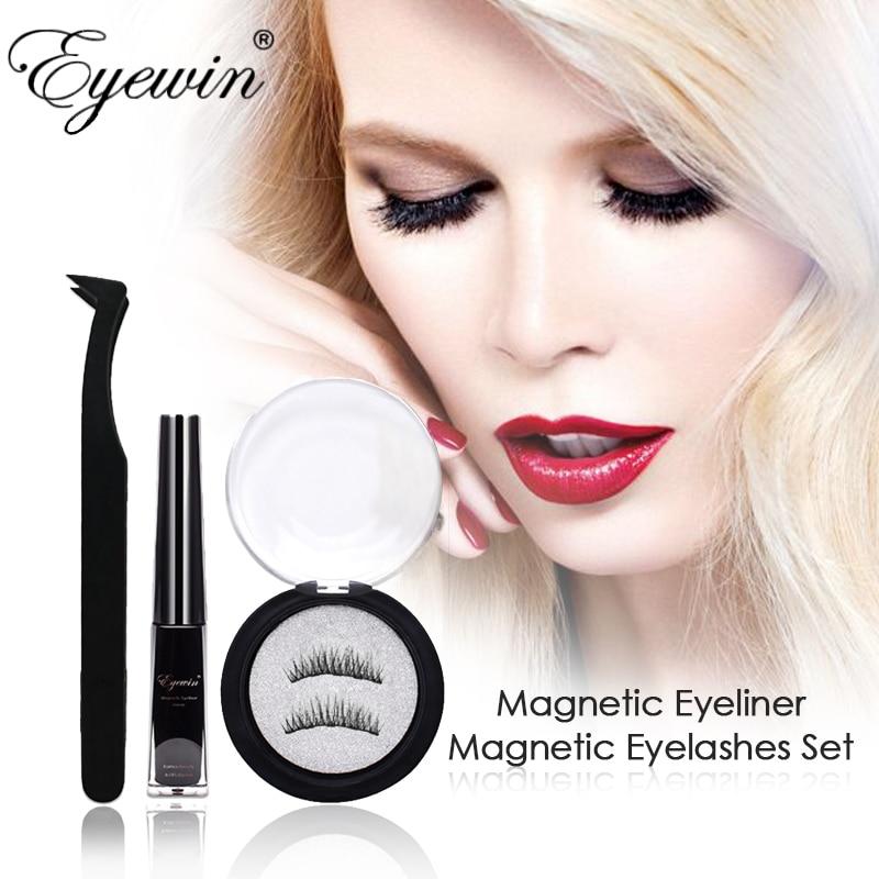 Eyewin Magnetic Eyeliner & Eyelashes Makeup Set For Drop Shipping Strong Magnetic Eyelashes Black Waterproof Long Lasting