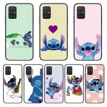 Carcasa de teléfono para Samsung Galaxy A, carcasa negra con diseño artístico para Samsung Galaxy A 50 51 20 71 70 40 30 10 E 4G 5G S