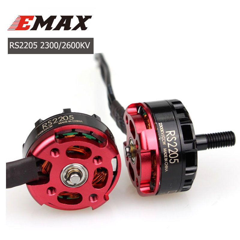 4PCS Emax RS2205 2300KV 2600KV 2205 CW/CCW 3-4S Brushless Motor for RC FPV Racing Drone Quad Motor FPV Multicopter With Box image