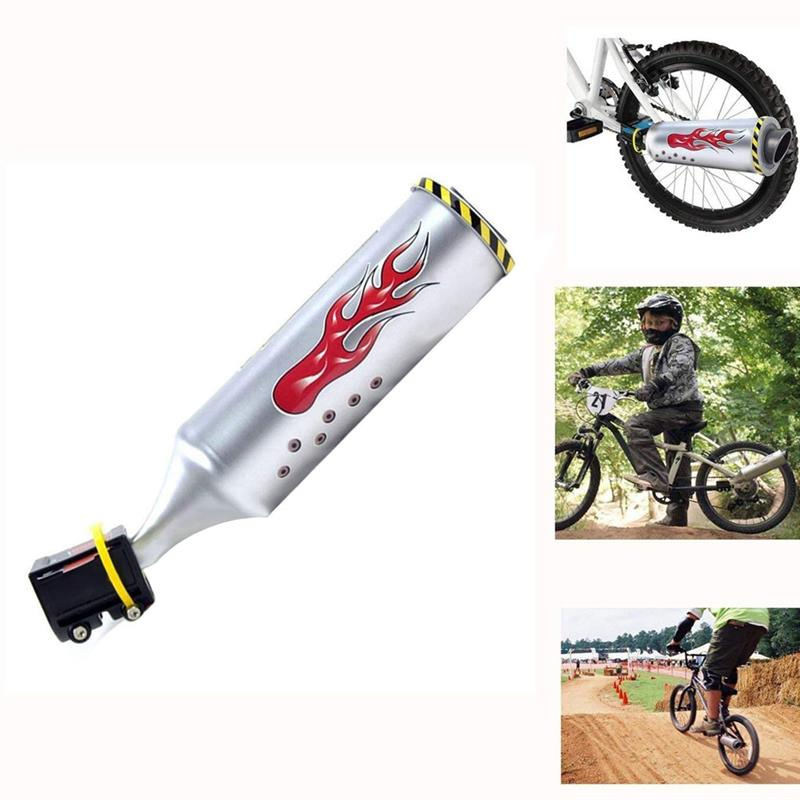 1PC Bicycle Exhaust Sound System Engine Cycling Bike Turbo Exhaust Pipe With 6 Sound Effect Motorcycle Noise Maker