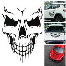 50*57cm punisher crânio sangue vinil decalques do carro adesivos motocicletas decoração preto/branco/vermelho D-422