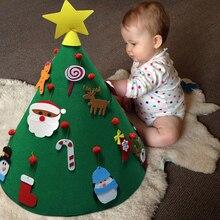 1 шт. подвесные украшения детские игрушки Войлок ремесло дерево комплект для рождественской елки декоративный праздничный инструмент вечерние украшения Рождественская елка
