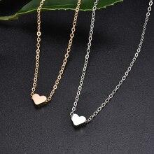 Новая модная женская простая любовь форма чокер с подвеской в форме сердца цепь многослойное ожерелье пляжное летнее ожерелье ювелирные изделия Прямая поставка