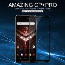 NILLKIN Protector de pantalla de vidrio templado para teléfono Asus ROG, cobertura completa, antiexplosión, CP + pro