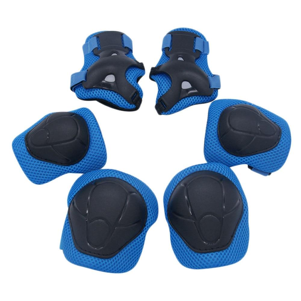 6pcs Skating Defense Supplies Kneecap Elbow Guard Wrist Guard Sports Outdoor Sports Protectors For Kid (Random Color)