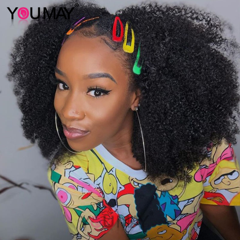 Afro Kinky Curly Clip Ins 4B 4C Kinky Curly Human Hair Clip In Extensions Natural Hair Clip Ins Brazilian Remy Hair You May