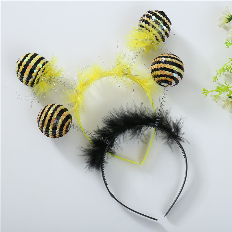 UFO Monster Insect Alien Hairband Round Ball Hair Band Fancy Dress Bee Antenna Headband Costume Christmas Role Play Gift on AliExpress