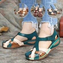 Сандалии женские без застежки пляжная обувь повседневные уличные
