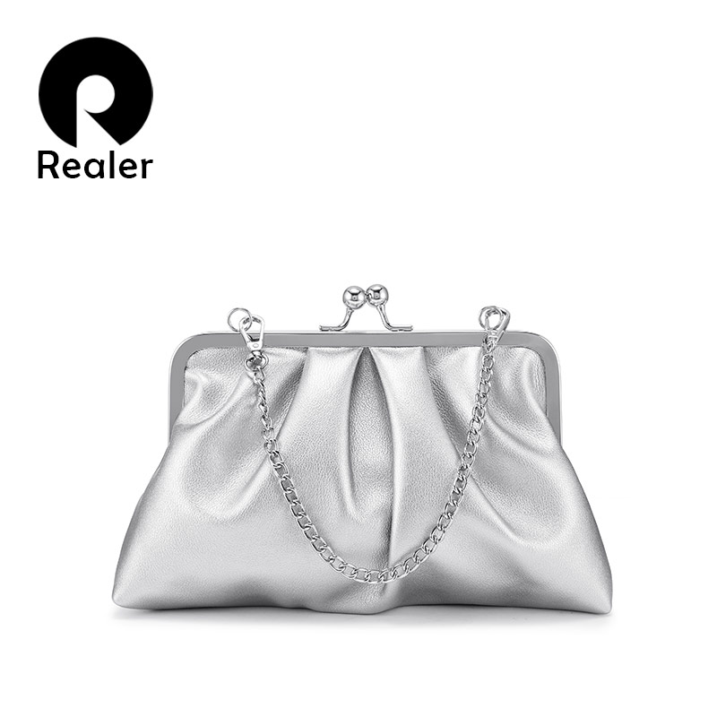 REALER Shoulder Bags For Women 2019 Female Evening Clutch Crossbody Bag For Party Small Ladies Purses And Handbags Chain Straps