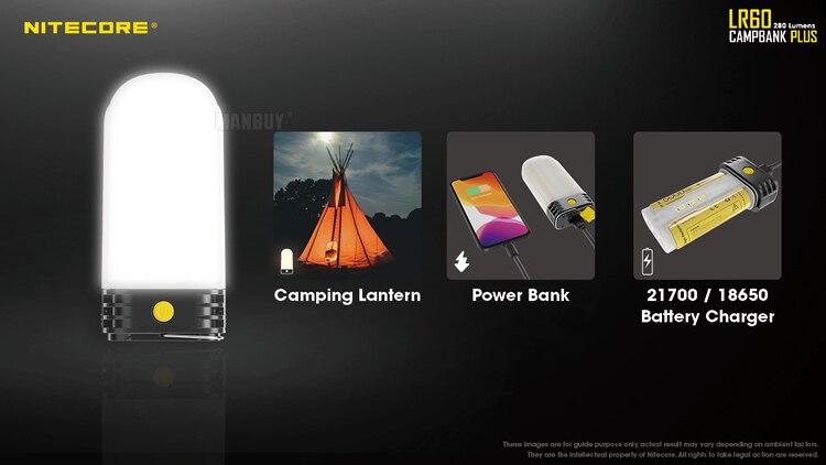 power bank 9x led cri 250lm inclui 2x21700 baterias frete grátis