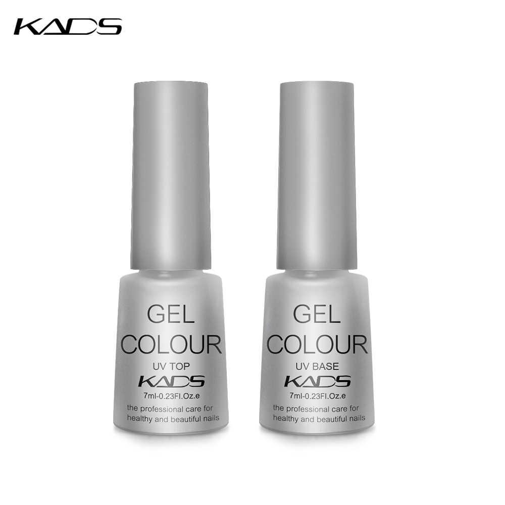 KADS 2PCS Top Base Coat Clear Nails Top Coat nail design Base Coat Nail Art UV Gel Polish 7ml Manicure Gel polish nail verharder
