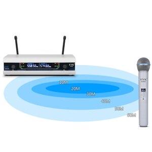 Image 5 - Eyk E3002 Professionele Uhf Karaoke Draadloze Microfoon Systeem Lange Range Dual Metalen Handheld Mic Zender Met Mute Functie