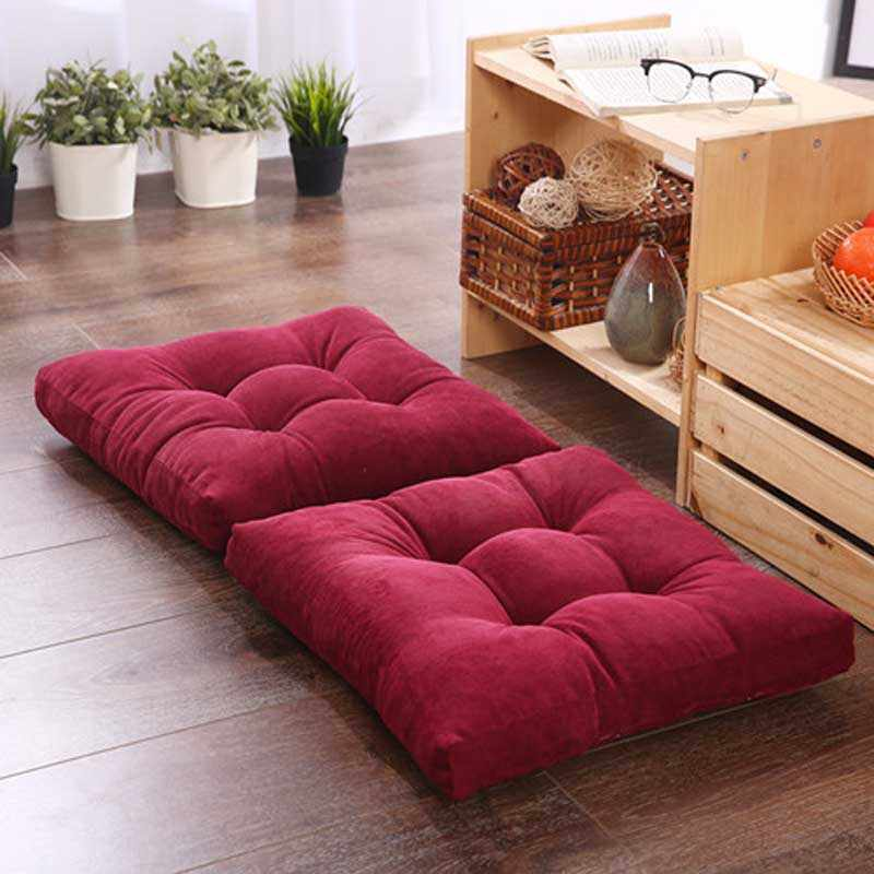 1PCS Square Bench Hassock Pouf Home Ground Seat Pad Office Chair Backrest Cushion Round Thickened Windows Mattress Futon
