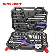 Workpro 123Pc Auto Reparatie Tool Set Monteur Tool Kits Schroevendraaiers Ratel Klemsleutels Sockets