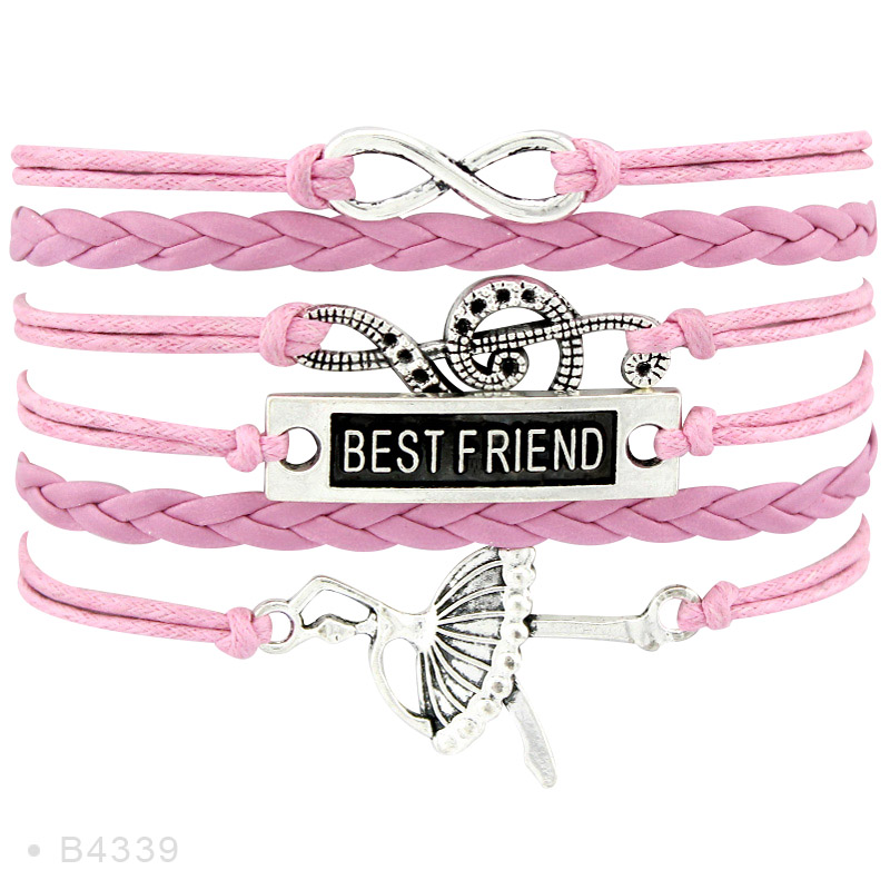 Infinity Love Music Treble Clef Bracelets Dance Dancing Guitar Band Mom Singing Musician Leather Wrap Bracelets in Charm Bracelets from Jewelry Accessories