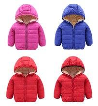 2019 winter/Autumn model Boy Jackets Kids solid color Children Outerwear Coats Boys warm baby Girls cotton-padded Jackets 2018 baby girls cotton padded outerwear