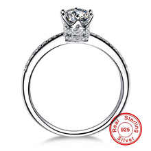 1.5 Carat NOT FAKE S925 Sterling Silver Ring SONA Diamond Luxury Fine Crown Style Queen Love Wedding Engagement simple 925