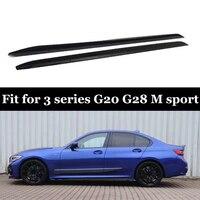 ПП материалы боковая юбка для BMW 3 серии G20 G28 M Спортивная модель ABS блеск черные боковые юбки стайлинга автомобилей