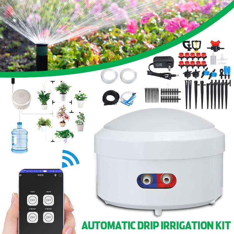 Intelligente Wifi Control 8M Automatische Micro Drip Bewässerung System Garten Bewässerung Spray Selbst Bewässerung Kit + Einstellbare Tropf